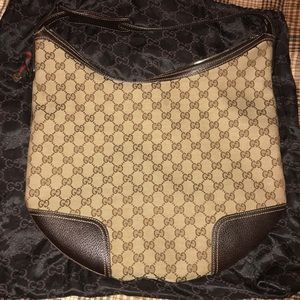 Gucci Ebony Signature Hobo Bag with Dust bag